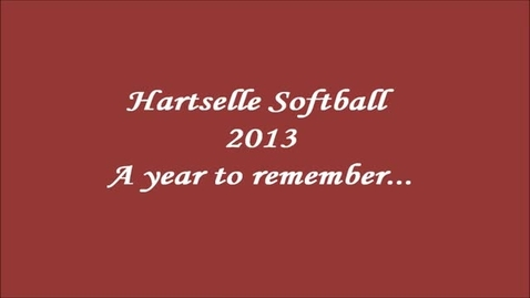 Thumbnail for entry Hartselle High Softball 2013