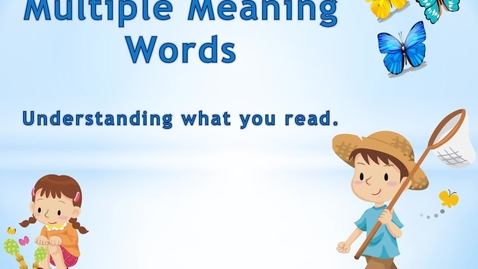 Thumbnail for entry Multiple Meaning Words