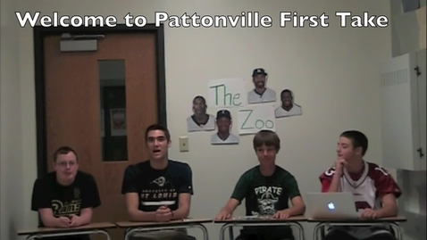 Thumbnail for entry Pattonville First Take 9/26