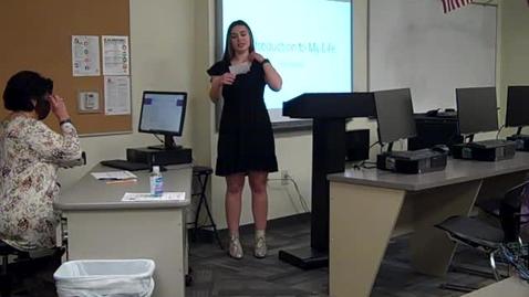 Thumbnail for entry Mia Mahan Speech 1