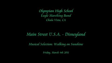 Thumbnail for entry Olympian HS - Disneyland 2011