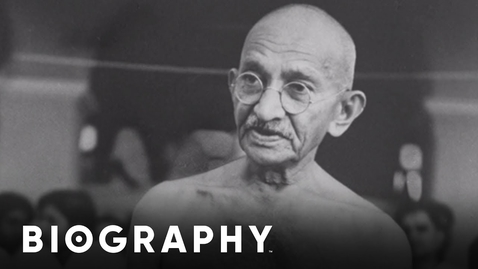 Thumbnail for entry Gandhi - Human Rights Activist   Mini Bio   Biography