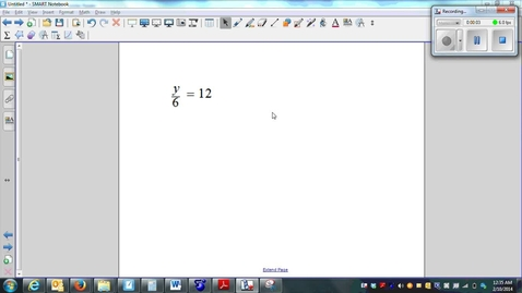 Thumbnail for entry Solving One-step Equations multiplication & Division 02