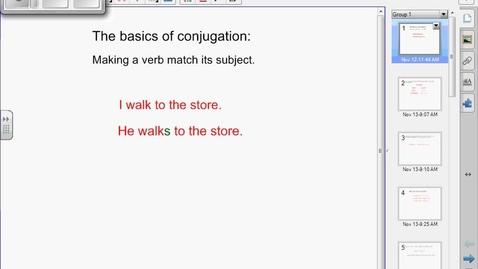 Thumbnail for entry German Verb Conjugation 1