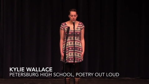 Thumbnail for entry Poetry Out Loud winner, PHS and Alaska Region 5, Kylie Wallace