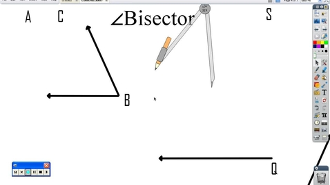 Thumbnail for entry Constructing angle bisector