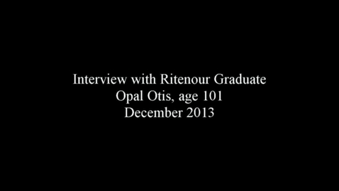 Thumbnail for entry Interview with Opal Otis, Ritenour Alumna