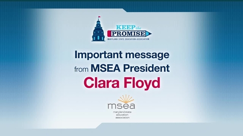 Thumbnail for entry MSEA President Clara Floyd thanks members