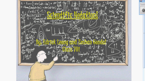 Thumbnail for entry Scientific Notation Tutorial 701