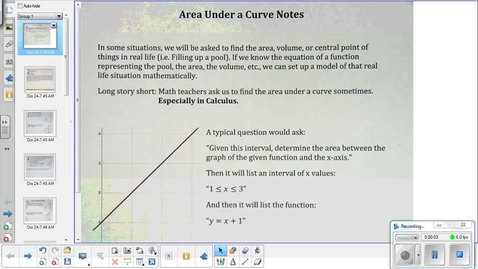 Thumbnail for entry Area under a curve lesson      10-24-14