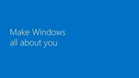 Thumbnail for entry Windows 8: Customizing Windows