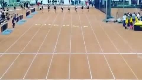 Thumbnail for entry Brittany Montemayer wins the 55m dash