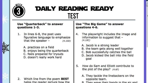 Thumbnail for entry READING Test Questions:Answers