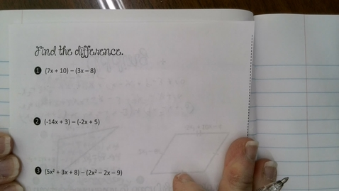 Thumbnail for entry Subtracting Polynomials