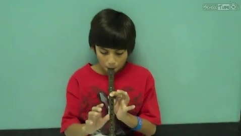 Thumbnail for entry Hector Chavira, recorder solo, 2011, Dabbs Elementary
