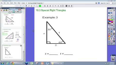 Thumbnail for entry Special Right Triangles Example #3