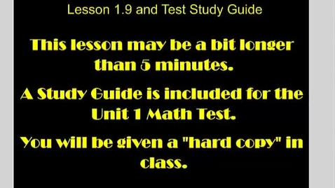 Thumbnail for entry Prime Factorization 1.9 and Unit Study Guide