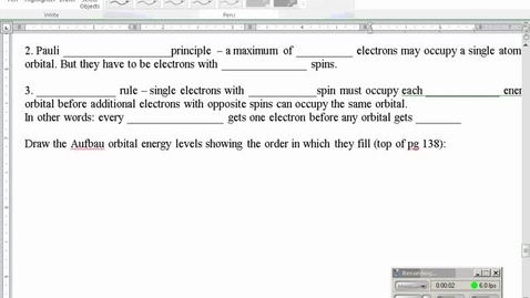 Thumbnail for entry Stephens Chemistry: Electron configurations and Orbital Diagrams (periodic patterns)