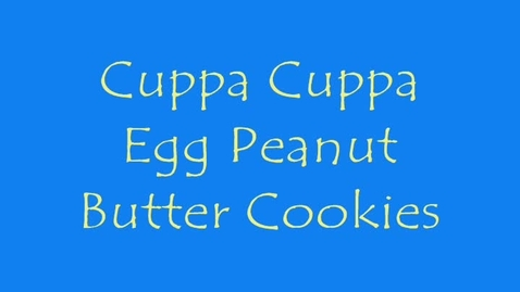 Thumbnail for entry Cuppa Cuppa Egg Cookie