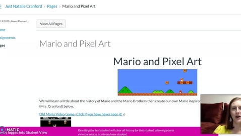 Thumbnail for entry Mario and Pixel Art