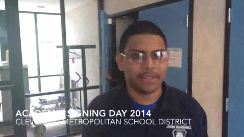 Thumbnail for entry CMSD College Signing Day - Student Interviews