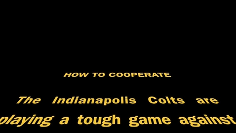 Thumbnail for entry Cooperation Colts Video