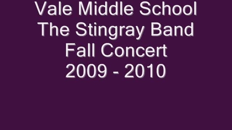 Thumbnail for entry Vale MS Band 2009-2010