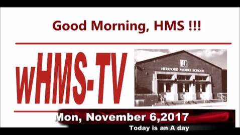 Thumbnail for entry 11-6-17 WHMS Morning News
