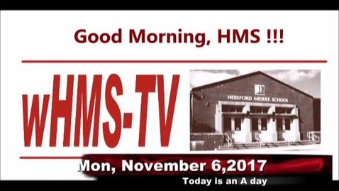 Thumbnail for entry 11-6-17 WHMS Morning News