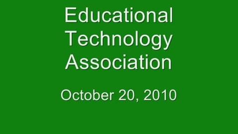 Thumbnail for entry October 2010 ETA Spotlight