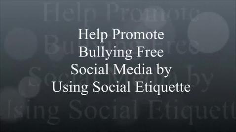 Thumbnail for entry Social Media  and Social Etiquette