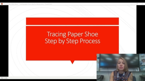 Thumbnail for entry Tracing paper shoe process video demo