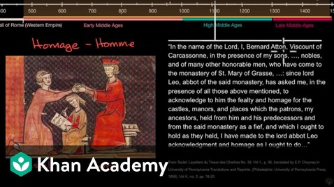 Thumbnail for entry Feudal system during the Middle Ages | World History | Khan Academy