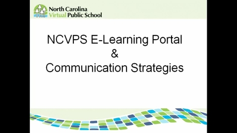 Thumbnail for entry E-learning Portal and Communication