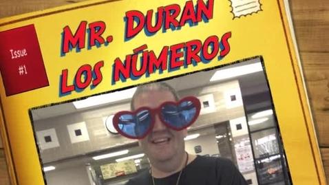 Thumbnail for entry Mr. Duran - Los Números