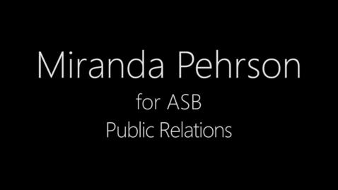 Thumbnail for entry ASB Public Relations Miranda Pehrson