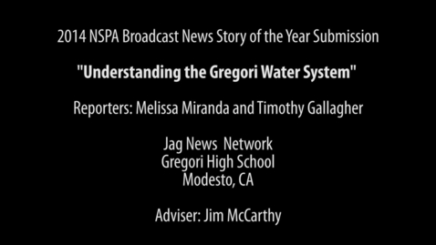 Thumbnail for entry 2014 Broadcast Story of the Year Submission