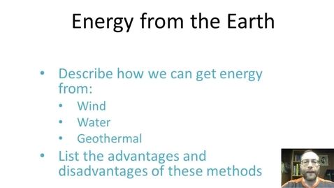 Thumbnail for entry Energy from the Earth