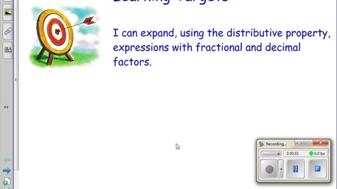 Thumbnail for entry 3.4 Expanding Algebraic Expressions part 1