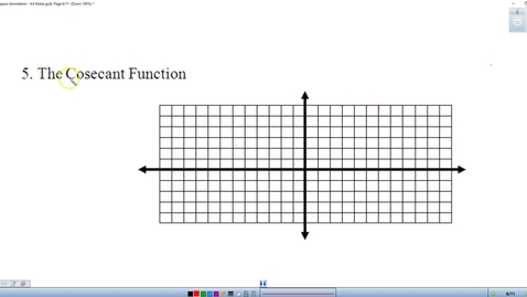 Thumbnail for entry 4.6 Part II Graphing Cosecant and Secant