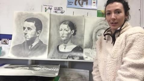 Thumbnail for entry MS/HS art (self portrait)