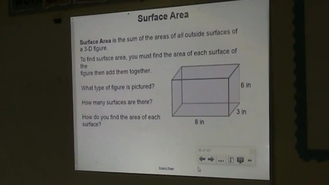 Thumbnail for entry PA Lesson 12-5 Surface Area of Prisms Part A