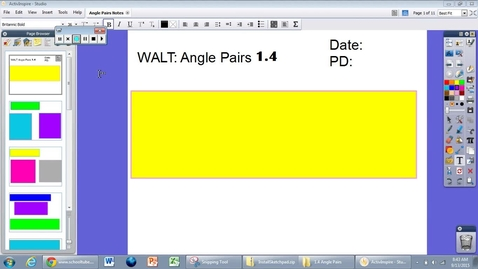Thumbnail for entry 1.4 Angle Pairs Notes