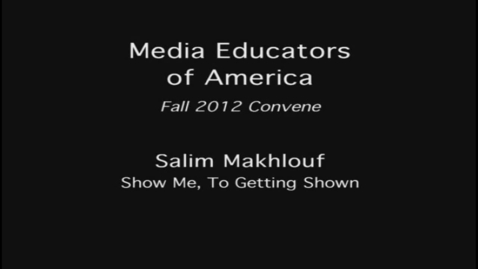 Thumbnail for entry 2012 MEOA Fall Convention: Salim Makhlouf