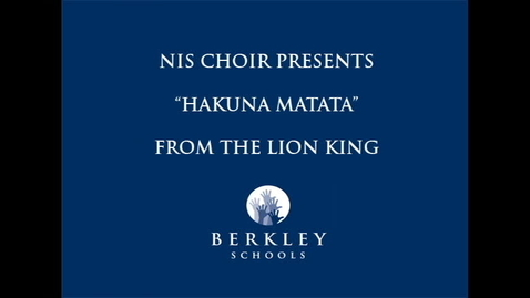 Thumbnail for entry NIS Choir Concert 12/16/10