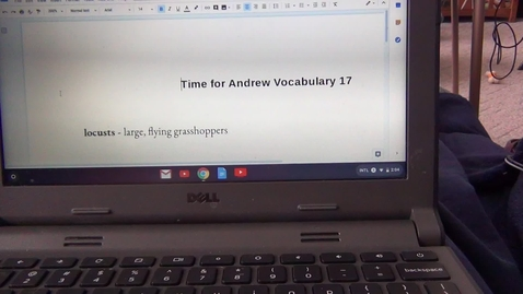 Thumbnail for entry Seventeenth Vocabulary Sheet for Time for Andrew by Mary Downing Hahn