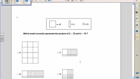 Thumbnail for entry SOL Review Quadratics Question 1