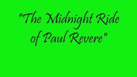 Thumbnail for entry Paul Revere Rap