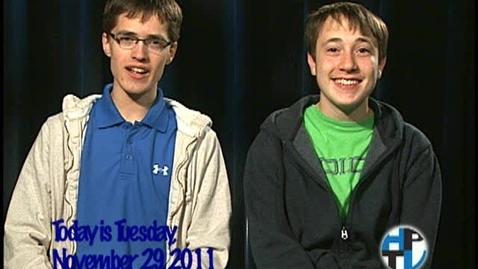Thumbnail for entry Tuesday, November 29, 2011