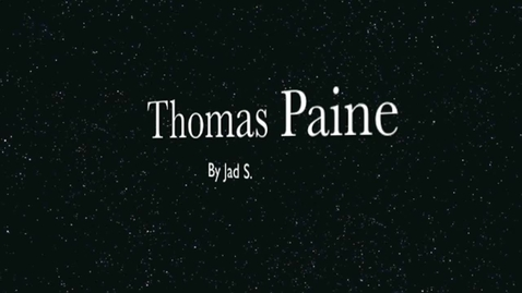Thumbnail for entry Thomas Paine Report